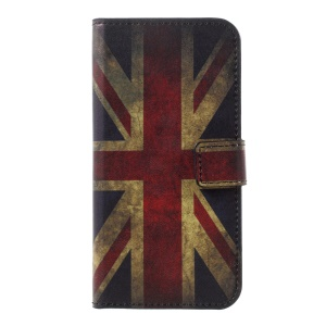 Patterned Leather Wallet Folio Flip Cover for Huawei P10 - Retro Union Jack Flag