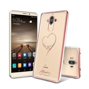 KINGXBAR Star Series Diamond Plated PC Case for Huawei Mate 9 - Rose Gold Edge / The Wish of the Stars