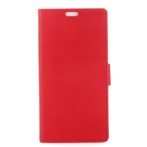 Leather Wallet Flip Phone Casing for Huawei P10 - Red