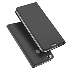 DUX DUCIS Skin Pro Series for Huawei P8 Lite (2017) / Honor 8 Lite  Leather Card Holder Mobile Casing - Dark Grey