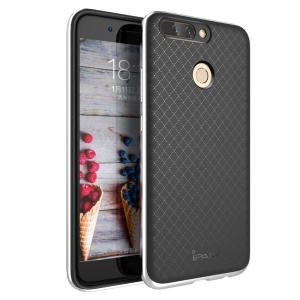 IPAKY 2-Piece PC Bumper + TPU Hybrid Mobile Cover for Huawei Honor 8 Pro / Honor V9 - Silver