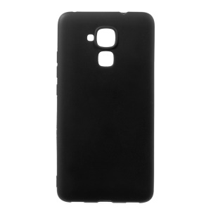 Solid Color Ultra Thin Matte Gel TPU Case for Huawei Honor 5c/GT3/Honor 7 Lite - Black