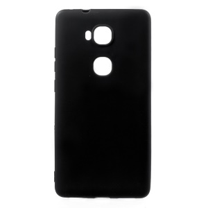 Solid Color Ultra Thin Frosted TPU Case for Huawei Honor 5X / Honor Play 5X - Black
