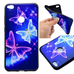 Patterned TPU Phone Case Accessory for Huawei P8 Lite (2017) / Honor 8 Lite - Pretty Butterflies