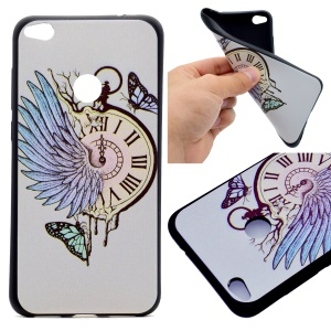 Patterned TPU Back Case for Huawei P8 Lite (2017) / Honor 8 Lite - Feather Clock and Butterflies