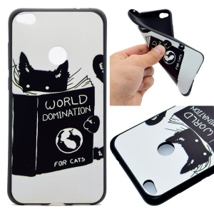 Patterned TPU Phone Accessory Case for Huawei P8 Lite (2017) / Honor 8 Lite - Cat Reading