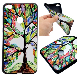 Patterned TPU Protective Case for Huawei P8 Lite (2017) / Honor 8 Lite - Vivid Flowers
