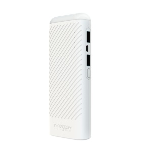 MESKEY MS-P9 LED Atmosphere Light Power Bank 12000mAh Mobile Power for iPhone 7, Samsung S8 - White