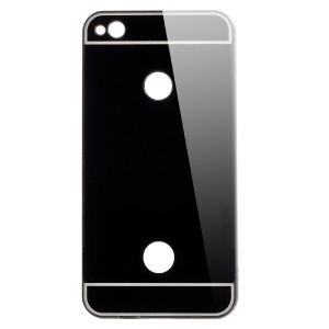 Slide-on Metal Bumper Plating PC Back Phone Case for Huawei P8 Lite (2017) - Black