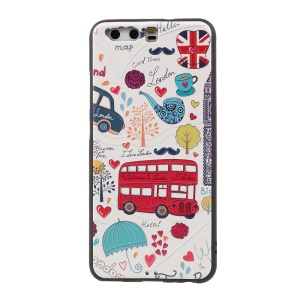 Embossed TPU Shell Case for Huawei P10 - Cartoon Pattern