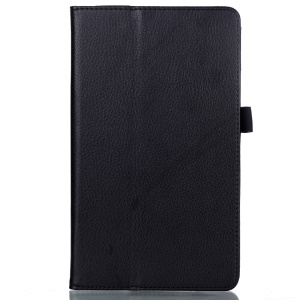 For Huawei MediaPad M3 8.4 Folio PU Leather Stand Case Lychee Texture - Black