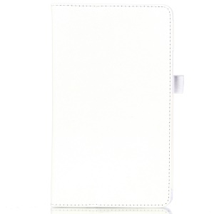 Lychee Texture PU Leather Tablet Case Stand for Huawei MediaPad M3 8.4 - White