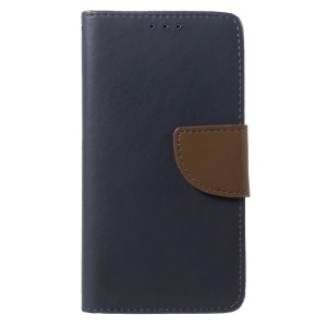 Stone Grain Wallet Leather Stand Case with Card Slots  for Huawei P9 Lite / G9 Lite - Dark Blue