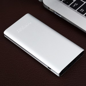 MESKEY MS-P50 Metal Skin 11000mAh Dual USB External Power Bank Battery Charger - Silver