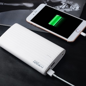 MESKEY MS-P60 King Kong Power Bank 20000mAh Portable Battery for iPhone 7, Samsung S8 - White