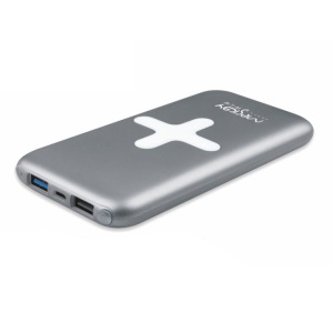 MESKEY QC100 Double USB 10000mAh Mobile Power Bank Support QC3.0 & Huawei FCP - Grey