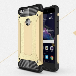 Armor 2-Layer Guard Plastic + TPU Case for Huawei P8 Lite (2017)/Honor 8 Lite - Gold
