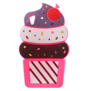 3D Cherry Ice Cream Soft Silicone Mobile Case for Huawei Y6 II/Y6II/Honor 5A - Rose