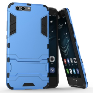 Plastic + TPU Combo Case with Kickstand for Huawei P10 Plus - Baby Blue