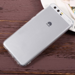 For Huawei P10 Clear Soft TPU Phone Case with Anti-dust Plugs - Transparent