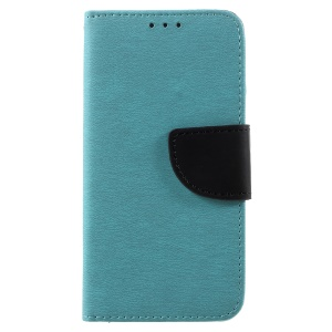 Pebble Grain Leather Stand Wallet Cover for Huawei P8 Lite (2017) / Honor 8 Lite - Baby Blue