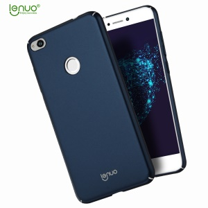 LENUO Leshield Series Silky Touch PC Mobile Phone Shell for Huawei P8 Lite (2017) / Honor 8 Lite - Dark Blue