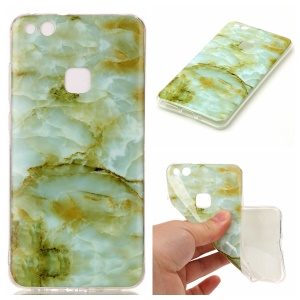 Marble Pattern IMD TPU Mobile Phone Case for Huawei P10 Lite - Light Green