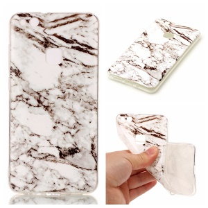IMD Marble Pattern TPU Back Case Cover for Huawei P10 Lite - White / Black