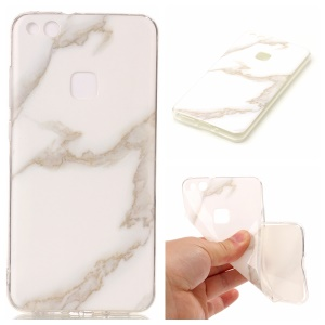 Marble Pattern IMD TPU Protection Case for Huawei P10 Lite - White