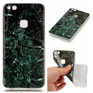 Marble Pattern TPU Case IMD Cover for Huawei P10 Lite - Dark Green