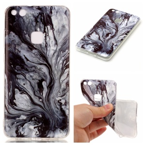 Marble Pattern TPU Soft Case IMD Shell for Huawei P10 Lite - Grey