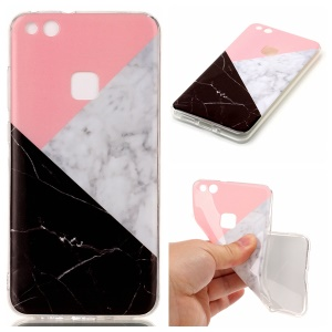 Marble Pattern IMD TPU Cover Case for Huawei P10 Lite - Pink / Grey / Black