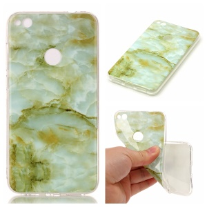 Marble Pattern IMD TPU Mobile Phone Case for Huawei P8 Lite (2017) / Honor 8 Lite - Light Green