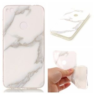 Marble Pattern IMD TPU Protection Case for Huawei P8 Lite (2017) / Honor 8 Lite - White