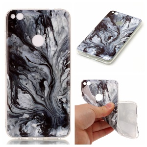 Marble Pattern TPU Soft Case IMD Shell for Huawei P8 Lite (2017) / Honor 8 Lite - Grey