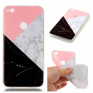Marble Pattern IMD TPU Mobile Cover Case for Huawei P8 Lite (2017) / Honor 8 Lite - Pink / Grey / Black