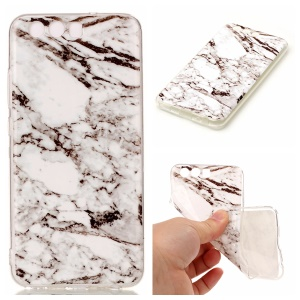 Marble Pattern IMD TPU Back Cover for Huawei P10 - White / Black