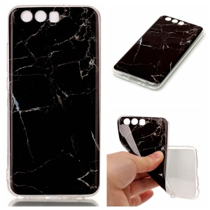 Marble Pattern IMD Soft TPU Phone Case for Huawei P10 - Black