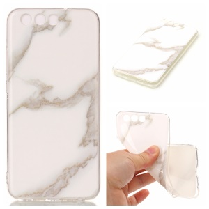 Marble Pattern IMD Protective TPU Mobile Casing for Huawei P10 - White