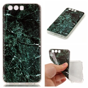 Marble Pattern IMD TPU Cellphone Case Accessory for Huawei P10 - Dark Green