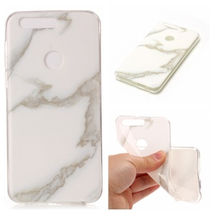 Marble Pattern IMD TPU Protection Case for Huawei Honor 8 - White