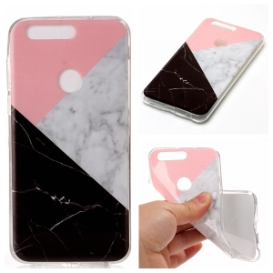 Marble Pattern IMD TPU Cover Case for Huawei Honor 8 - Pink / Grey / Black