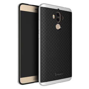 Coque hybride IPAKY 2 en 1 PC Frame + TPU pour Huawei Mate 9 - Argent