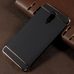 3-in-1 Electroplated Frames PC Hard Back Case for Huawei Mate 9 Pro - Black