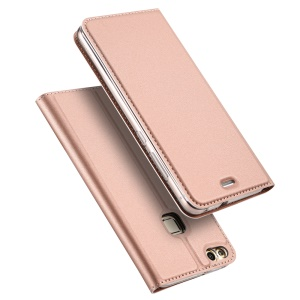 DUX DUCIS Skin Pro Series Leather Stand Case for Huawei P10 Lite - Rose Gold