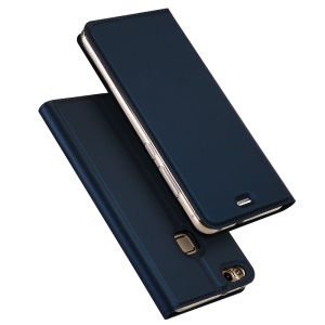 DUX DUCIS Skin Pro Series Leather Phone Case for Huawei P10 Lite - Dark Blue