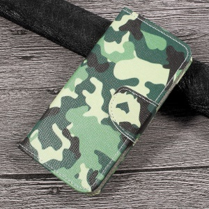 Patterned Wallet Leather Cell Phone Case for Huawei P10 Lite - Camouflage Pattern
