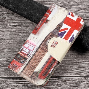 Printing Pattern Wallet Leather Cover for Huawei P10 Lite - London Elements