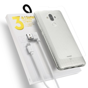 DUX DUCIS Skin Pro 3-in-1 Series for Huawei Mate 9 TPU Phone Cover + Type-C USB Cable + Tempered Glass Screen Film