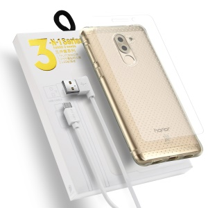 DUX DUCIS Skin Pro 3-in-1 Series for Huawei Honor 6X (2016) Clear TPU Case + Tempered Glass Screen Protector + Micro USB Charging Cable